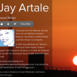 Jay Artale About Me page