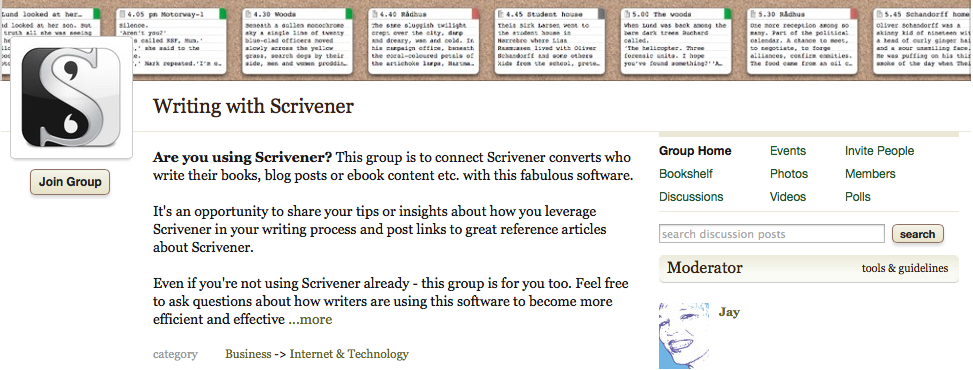 Goodreads Writing with Scrivener Group