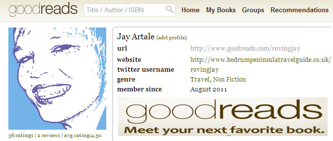 Jay Artale Good Reads Profile