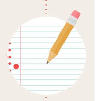 Pencil and Lined Paper Icon
