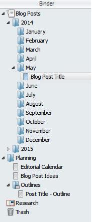 Scrivener Calendar Folder Structure 2014 2015