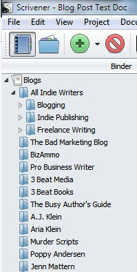 All Indie Writers Binder set up for Bloggers by Blog not date