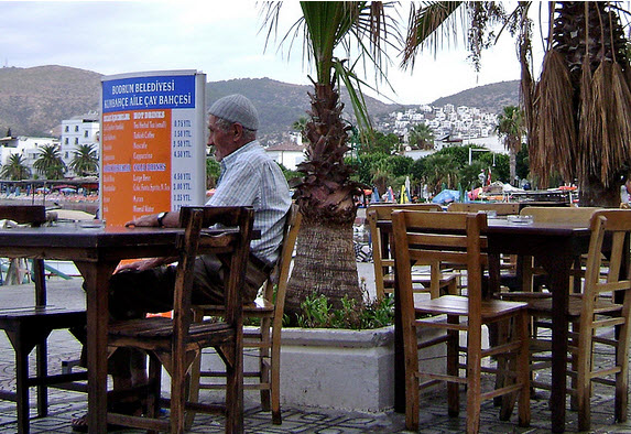 Bodrum Fisherman at the Cafe Bodrum Turkey by Roving Jay
