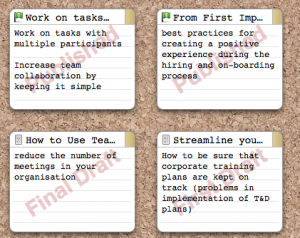 Scrivener Corkboard view of index card synopsis