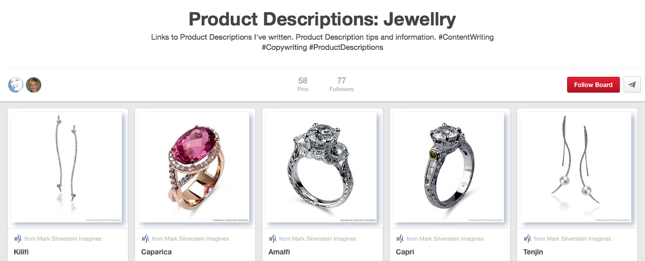 MSImagines Pinterest Board Jewellry Descriptions
