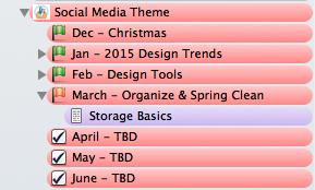 Social Media Theme Folder in Scrivener