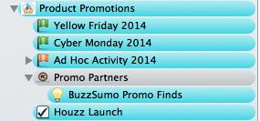 Scrivener Product Promotions folder