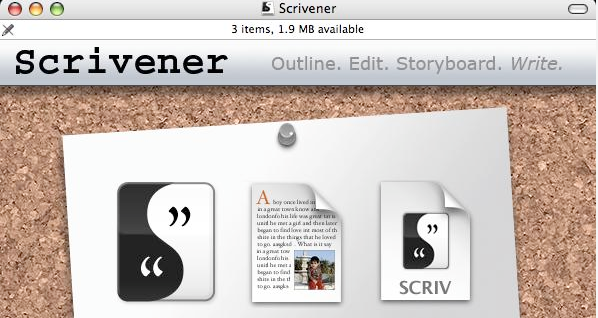Scrivener Screen Shot