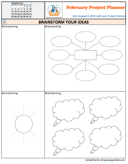 February 2015 Free Project Planner Template Brainstrom