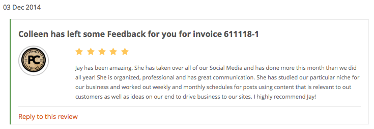 Project Cottage PPH social media review feedback for Jay Artale