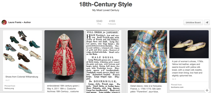Laura Frantz Pinterest 18th Century Style Jay Artale Social Media