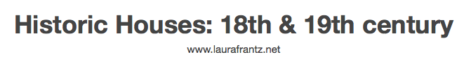 Laura Frantz Pinterest 18th Century Locations and Houses Jay Artale Social Media