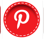 Row of Pinterest Icons Red Social Media Jay Artale