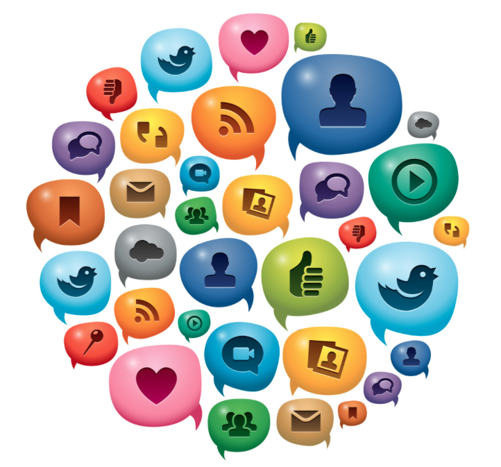 Social Media Icons Cluster