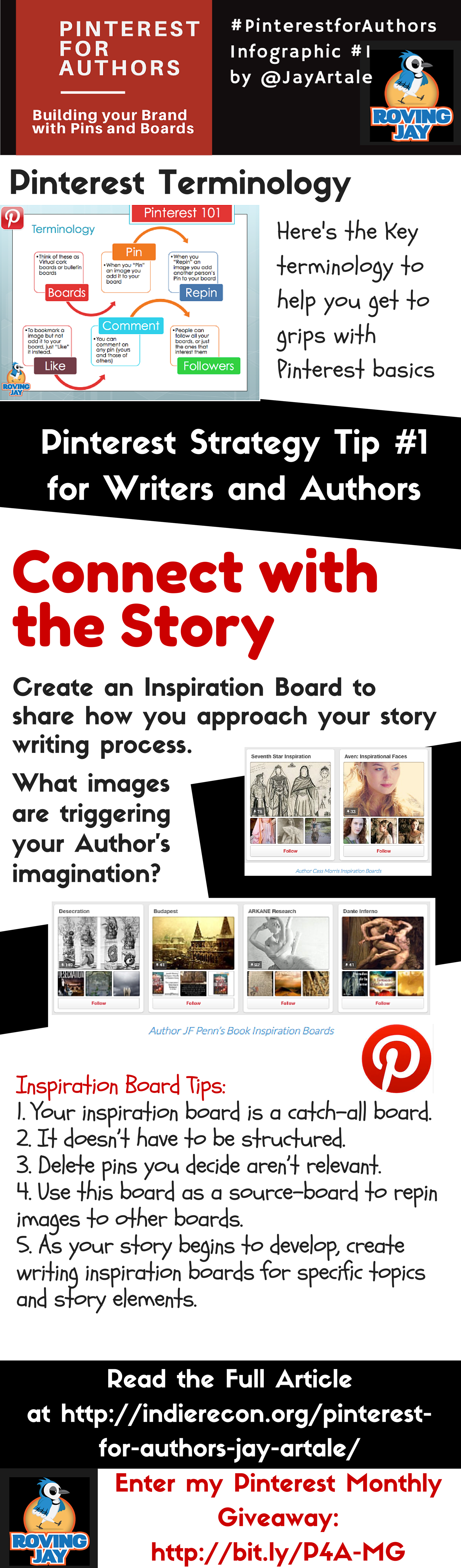 Pinterest for Authors Infographic #1 Jay Artale Connect with the Story