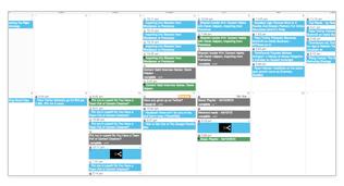 Editorial Calendar in Shareist