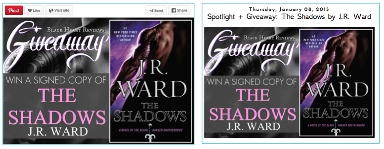 Signed Book Giveaway Pinterest for Authors Jay Artale