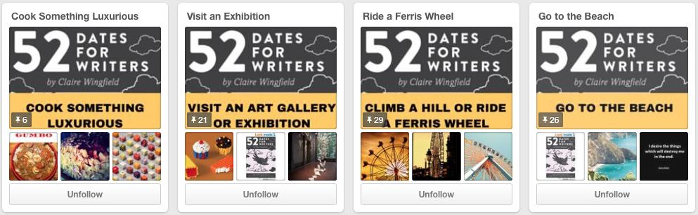 52 Dates for Writers Board Design by Jay Artale