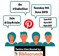 Jay Artale as featured on Twitter Chat #IndieChat for Bibliocrunch