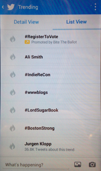 Twitter Hashtag Trending #IndieReCon