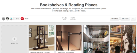 Bookshelves and Reading Places Group Board