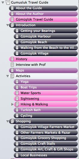 Scrivener Progress tracking on my e-book