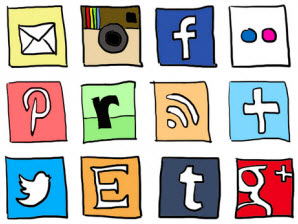 Social Media Management Strategy Icons