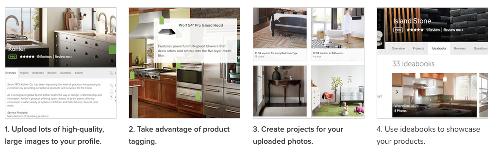 How to Use Houzz to market your business webinar screenshots