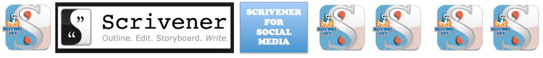 Scrivener for Social Media Header on Jay Artale