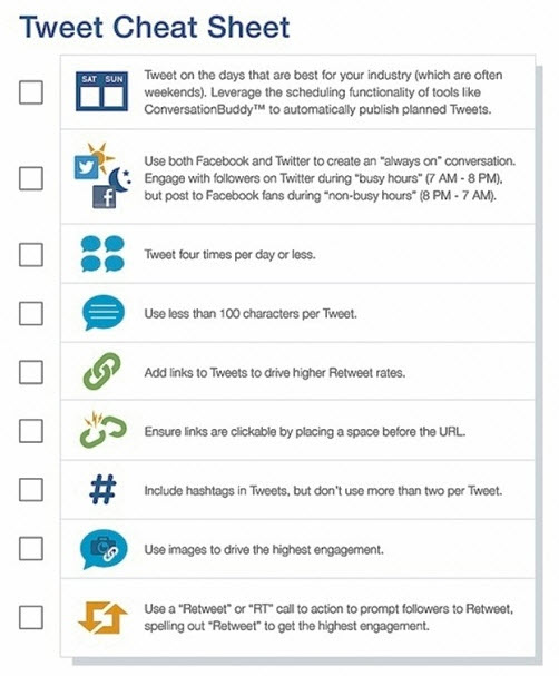 Tweet Cheat Sheet Social Media