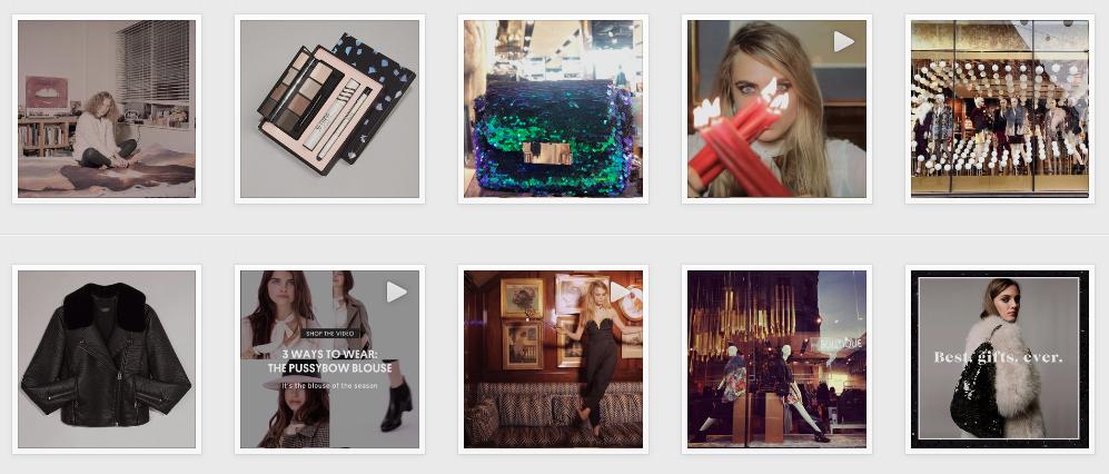 Top Shop on Instagram