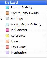 Scrivener Label Structure for Social Media Management
