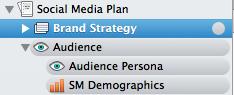 Scrivener Social Media Audience Binder Section