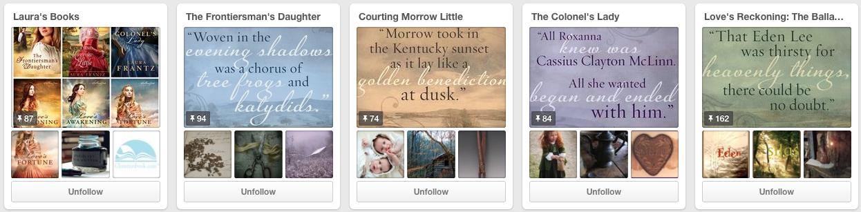 Laura Frantz Historical Fiction on Pinterest Boards Jay Artale Social Media