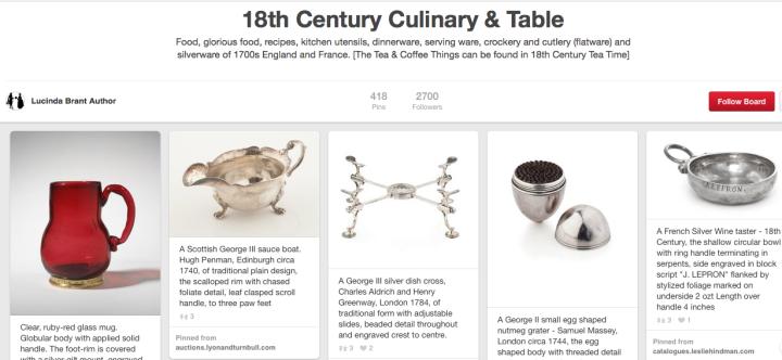 Pinterest 18th Century Culinary and Table Social Media Jay Artale