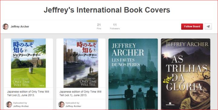 Jeffrey Archer Pinterest Social Media Jay Artale