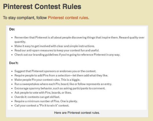 Pinterest Content Rules