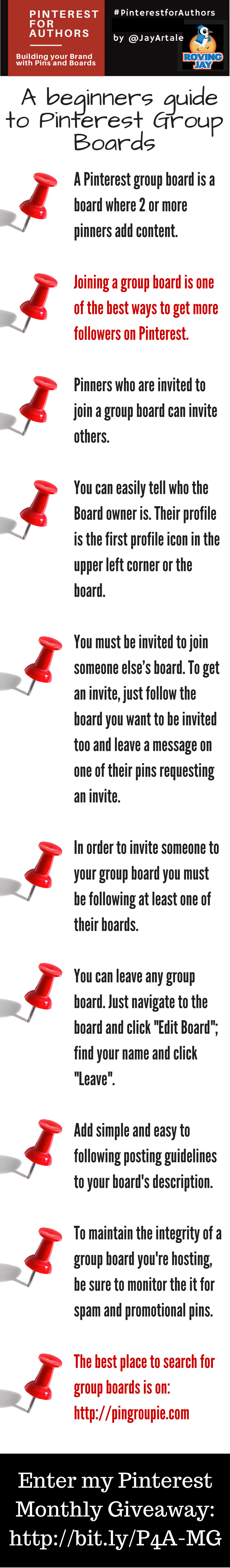 Infographic 10 Facts About Pinterest Group Boards by Jay Artale