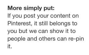 Pinterest Terms of Service Copyright Simply Put
