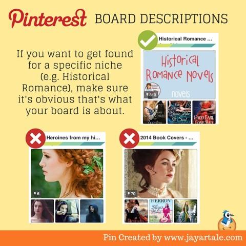 Pinterest for Authors Jay Artale Board Descriptions