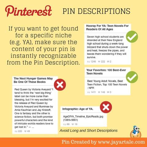 Pinterest for Authors Jay Artale Pin Descriptions